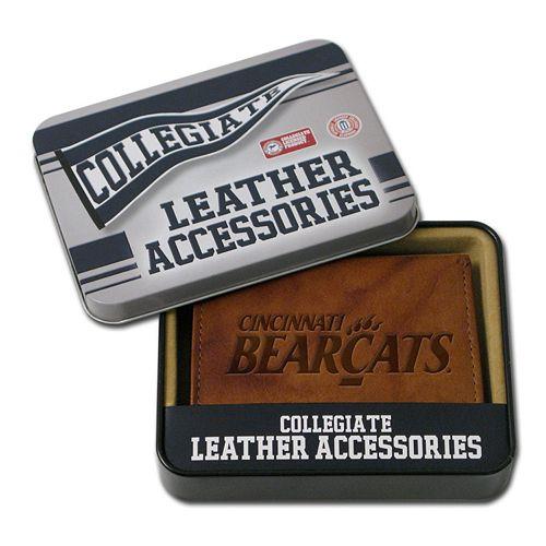 Cincinnati Bearcats Leather Trifold Wallet