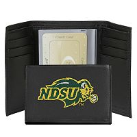 North Dakota State Bison Leather Trifold Wallet