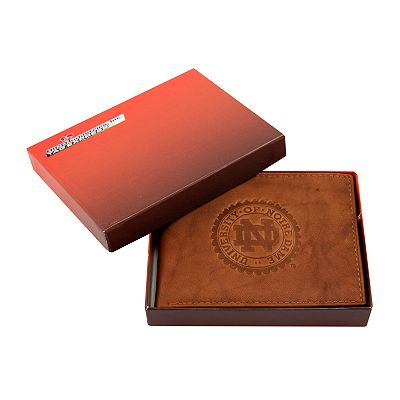 Notre Dame Fighting Irish Leather Trifold Wallet