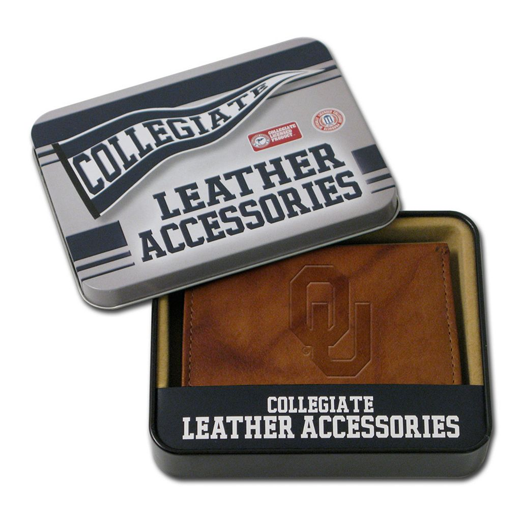 Oklahoma Sooners Leather Trifold Wallet