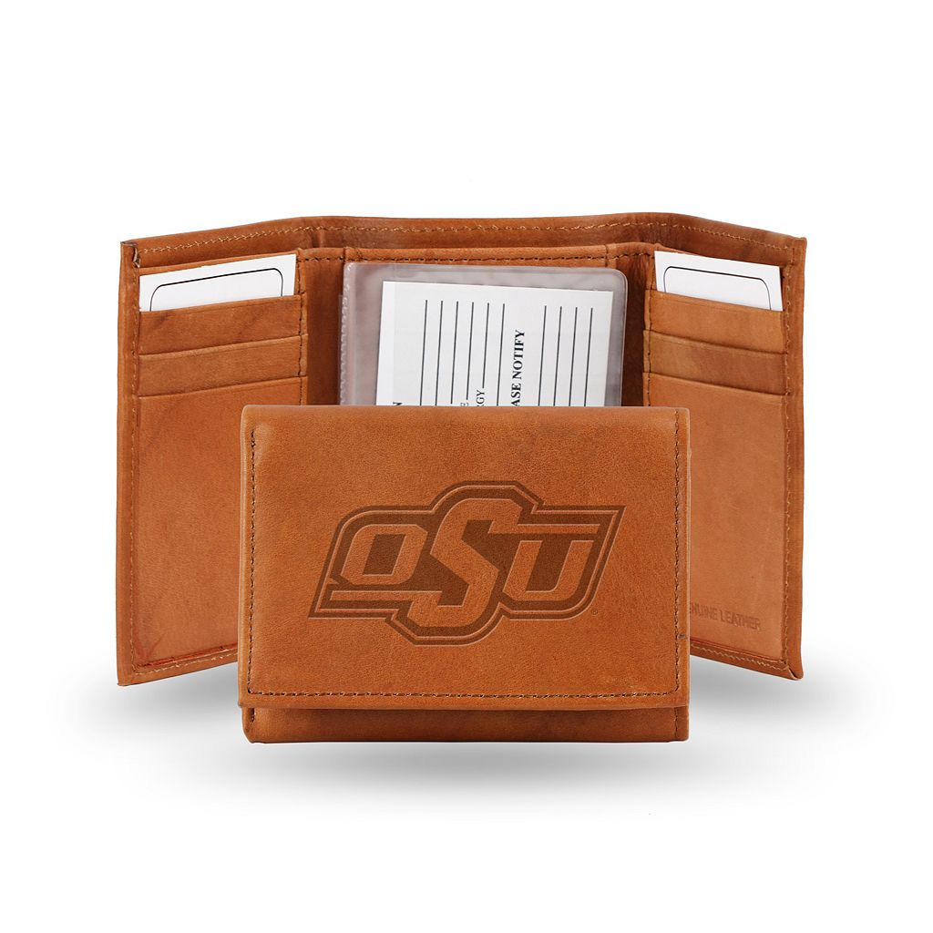 Oklahoma State Cowboys Leather Trifold Wallet