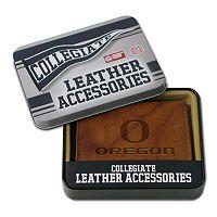Oregon Ducks Leather Trifold Wallet