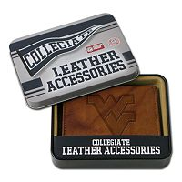 West Virginia Mountaineers Embossed Leather Trifold Wallet