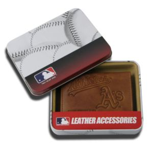 Oakland Athletics Leather Trifold Wallet