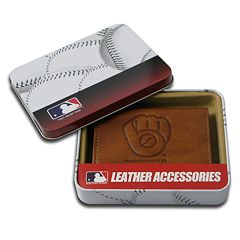Milwaukee Brewers Leather Trifold Wallet