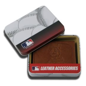 Cleveland Indians Leather Trifold Wallet