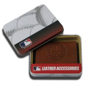 Seattle Mariners Leather Trifold Wallet
