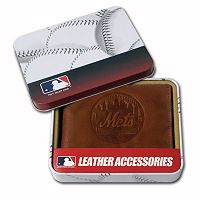 New York Mets Leather Trifold Wallet