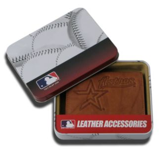 Houston Astros Leather Trifold Wallet