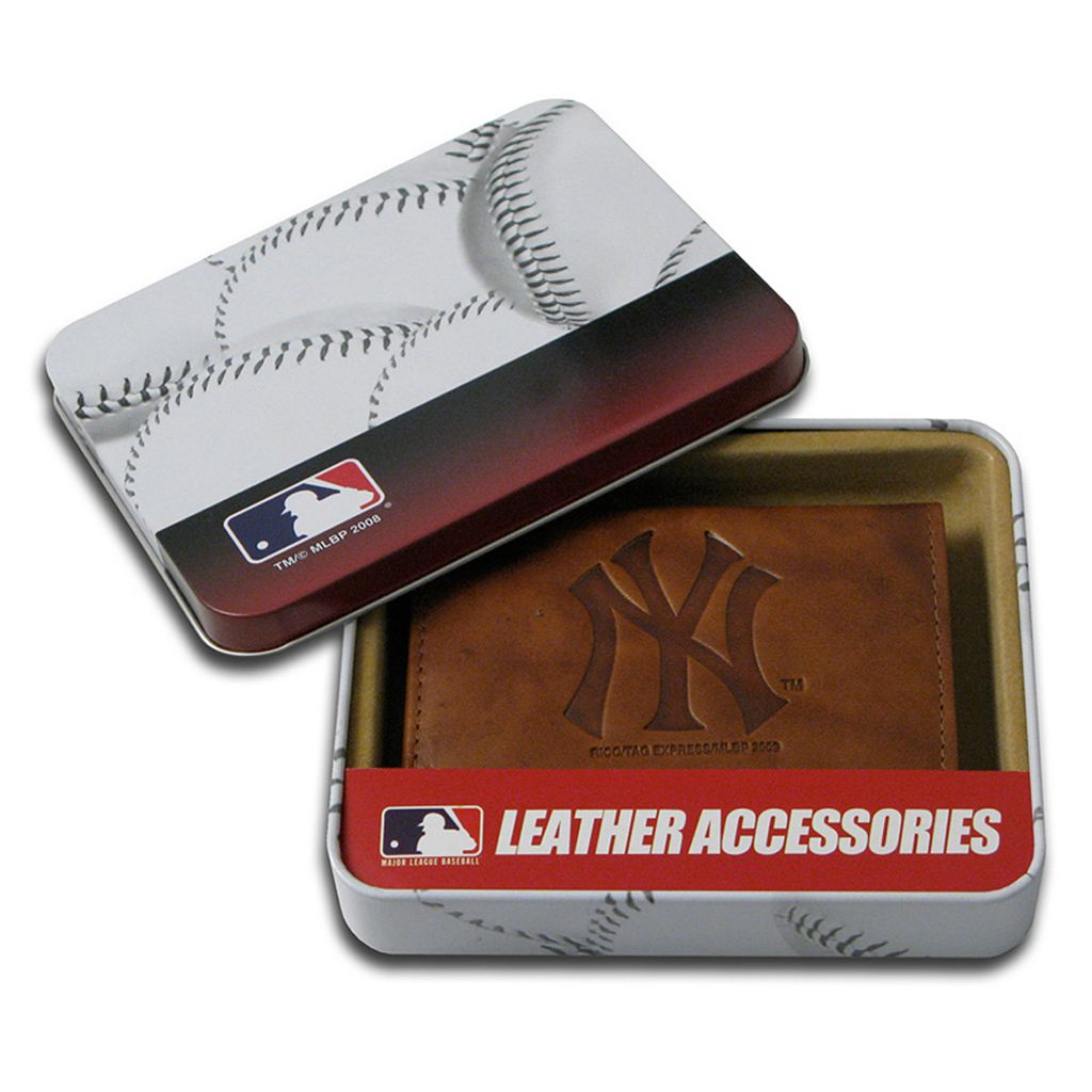 New York Yankees Leather Trifold Wallet