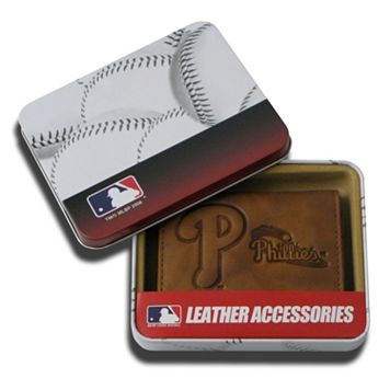 Philadelphia Phillies Leather Trifold Wallet