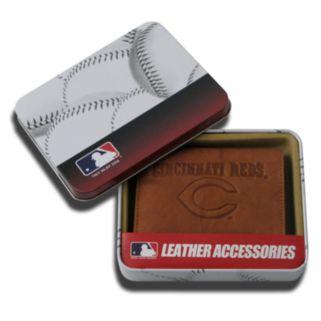 Cincinnati Reds Embossed Leather Trifold Wallet