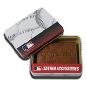 Colorado Rockies Leather Trifold Wallet