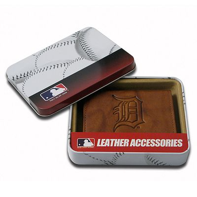 Detroit Tigers Leather Trifold Wallet