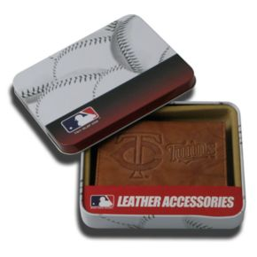 Minnesota Twins Leather Trifold Wallet