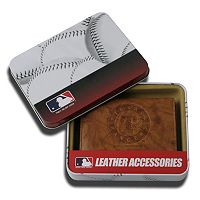 Texas Rangers Leather Trifold Wallet