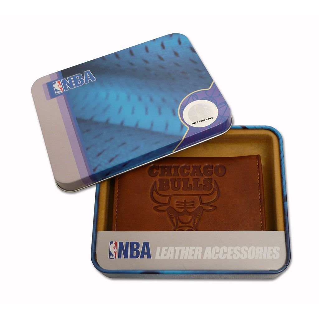 Chicago Bulls Embossed Leather Trifold Wallet