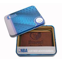 Memphis Grizzlies Leather Trifold Wallet