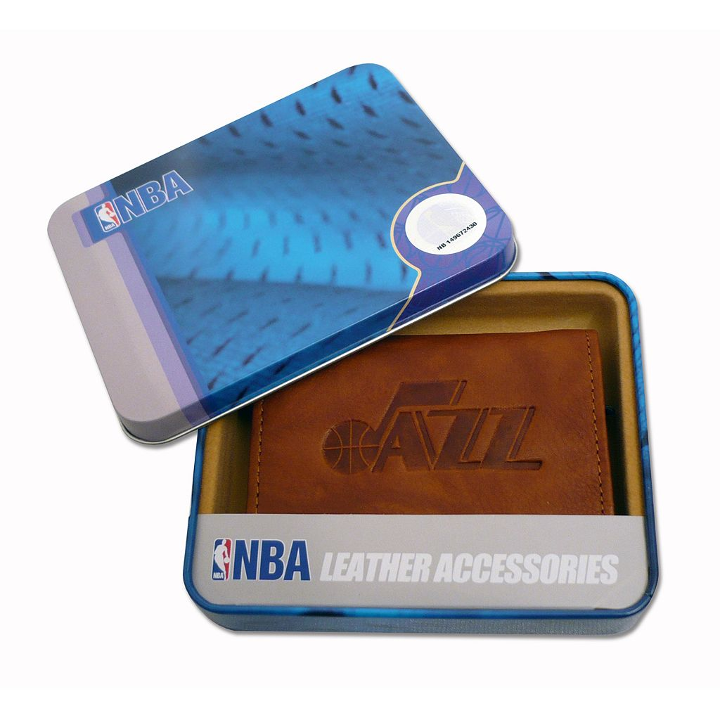 Utah Jazz Leather Trifold Wallet