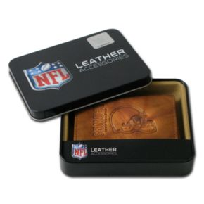 Cleveland Browns Leather Trifold Wallet