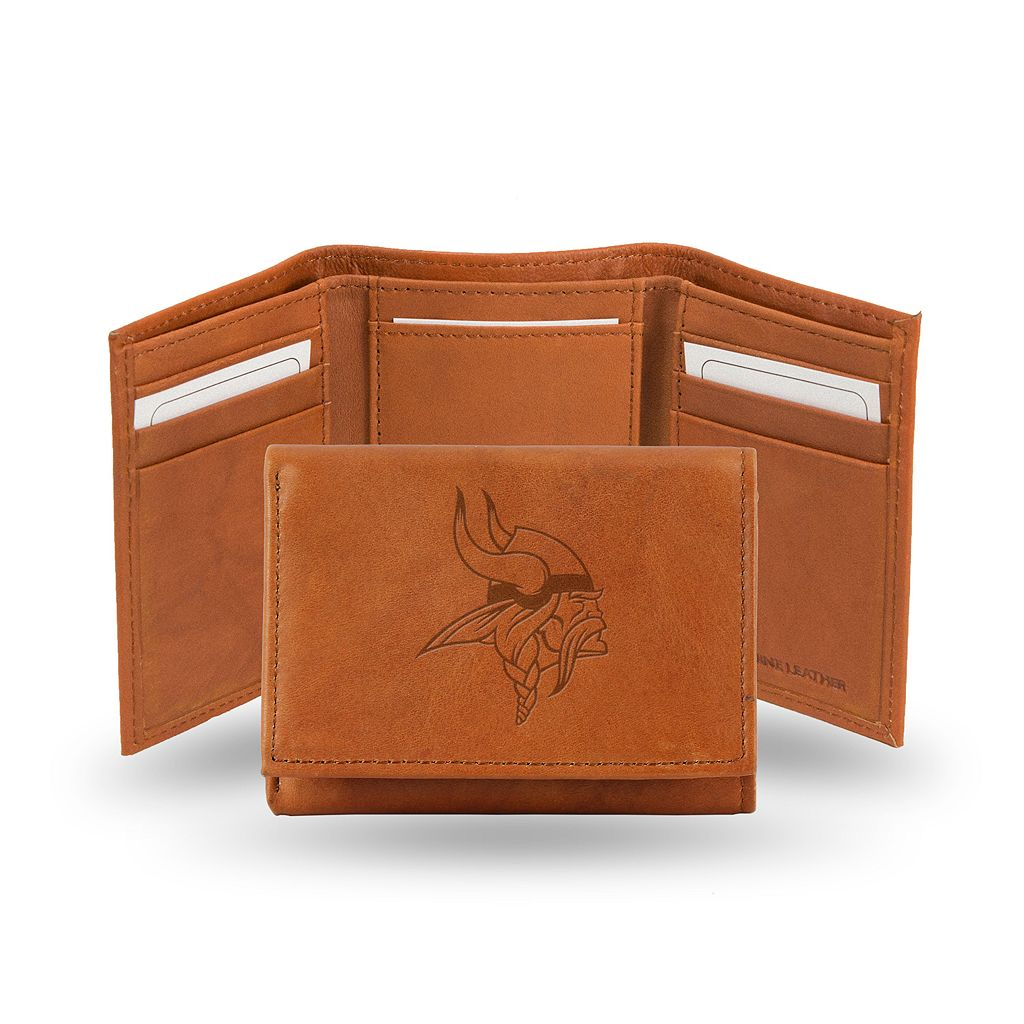 Minnesota Vikings Leather Trifold Wallet