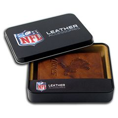 Detroit Lions Leather Trifold Wallet