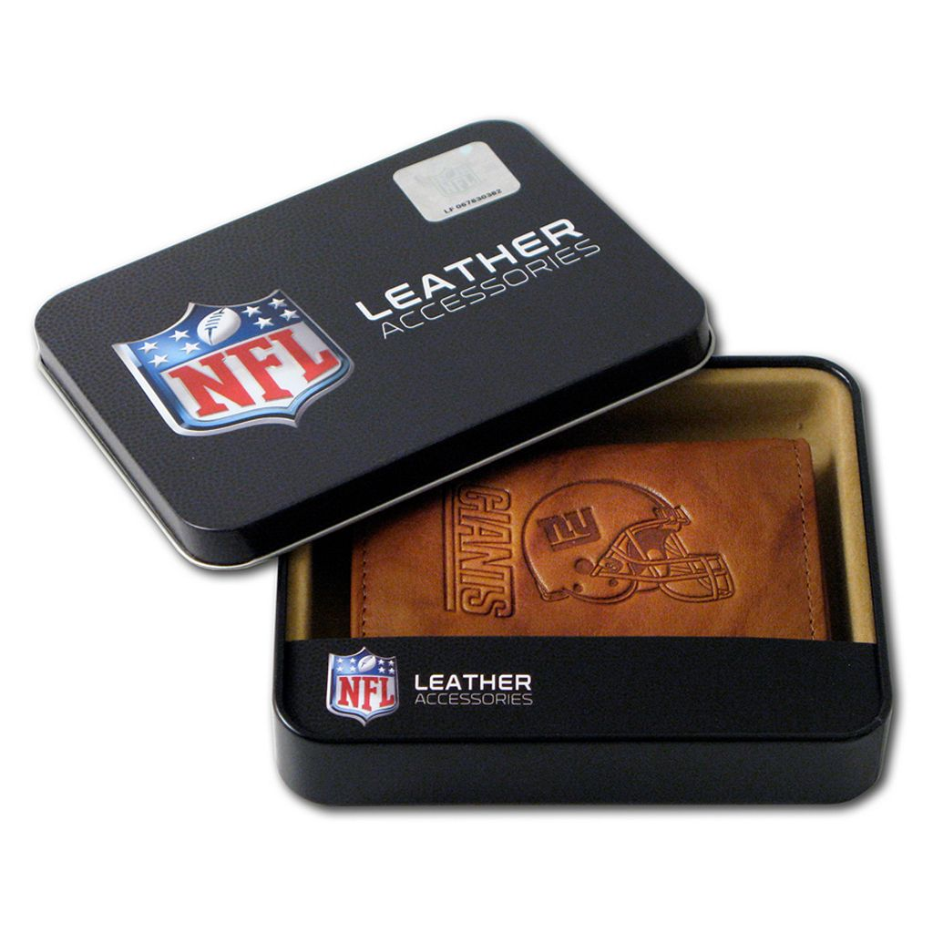 New York Giants Leather Trifold Wallet