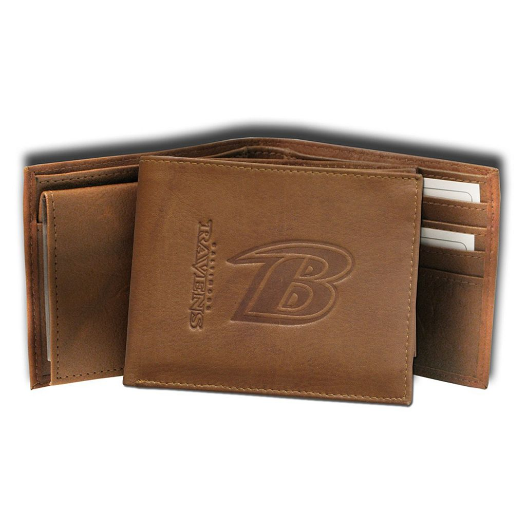 Baltimore Ravens Leather Trifold Wallet