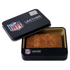 New Orleans Saints Leather Trifold Wallet