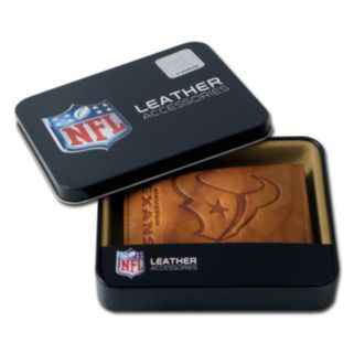 Houston Texans Leather Trifold Wallet