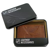 St. Louis Blues Leather Trifold Wallet
