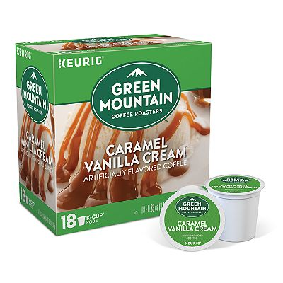 Keurig K-Cup Portion Pack Green Mountain Coffee Caramel Vanilla Cream Coffee - 18-pk.