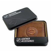 Minnesota Wild Leather Trifold Wallet