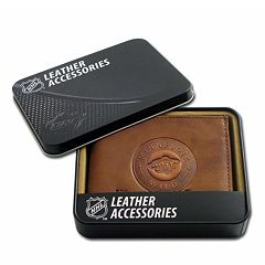 Minnesota Wild Leather Trifold Wallet