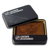 Edmonton Oilers Leather Trifold Wallet