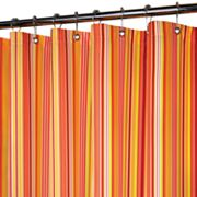 Park B. Smith Strings Striped Fabric Shower Curtain