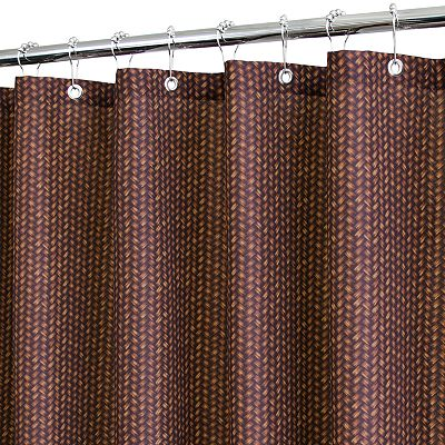 Park B. Smith Basket Fabric Shower Curtain
