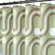 Park B. Smith Squiggles Fabric Shower Curtain