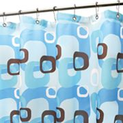 Park B. Smith Geo Square Fabric Shower Curtain