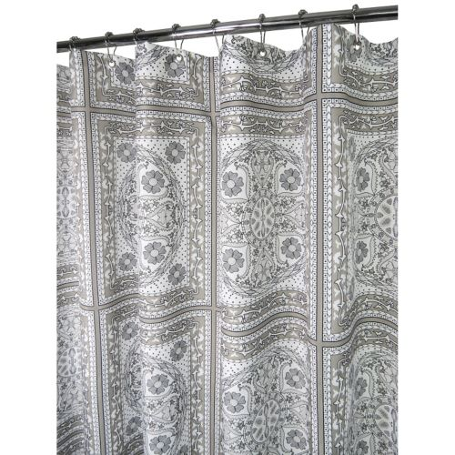 Watershed by Park B. Smith Medallion Tiles Fabric Shower Curtain