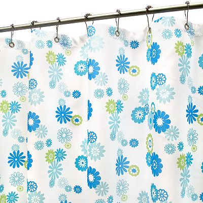 Park B. Smith Starburst Floral Fabric Shower Curtain