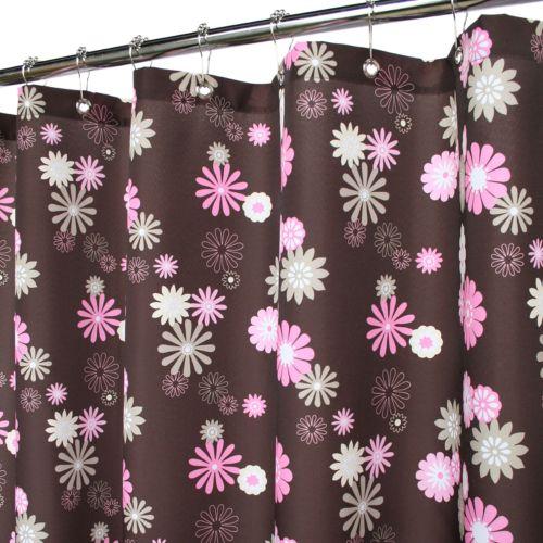 Park B. Smith Starburst Floral Fabric Shower Curtain
