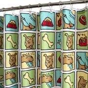 Park B. Smith Doggy Time Fabric Shower Curtain