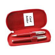 Red Leather Pen Set