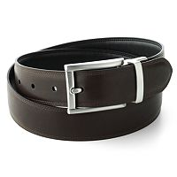 Chaps Black Brown Reversible Belt