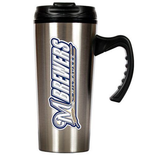 Milwaukee Brewers Stainless Steel Travel Mug