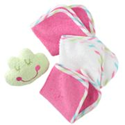 Just Born Frog Tub Pal and Washcloth Set