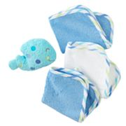 Just Born Whale Tub Pal and Washcloth Set