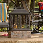 Taos Portable Indoor-Outdoor Gel Fireplace