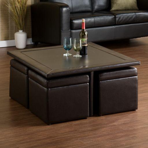 Nylo Storage Ottoman and Table Set